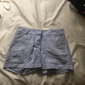 Seersucker size 0 JCrew shorts